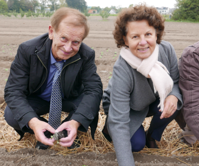 Jean-Paul Bastian et Françoise Buffet, adjointe au maire